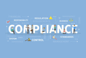 a graphic illustrating the importance of keeping your business compliant with government/industry standards